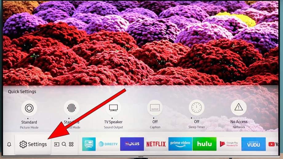 SmartHub settings menu