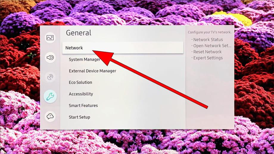 Network menu SmartHub