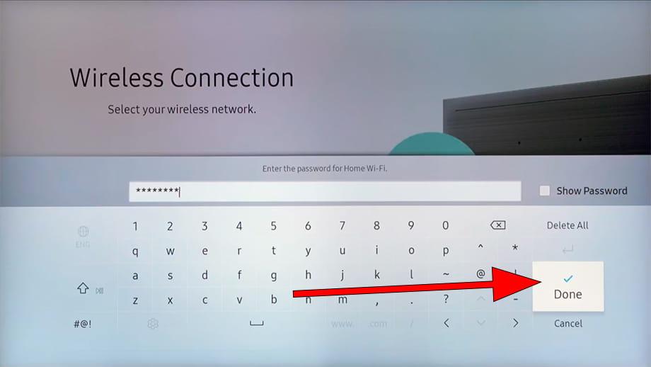 Network password SmartHub